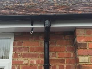 black gutters installed