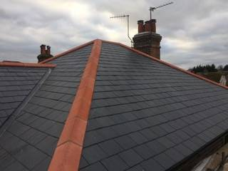 black roof repaired