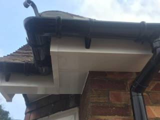 guttering work on the house