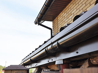 cleaned and newly installed gutter