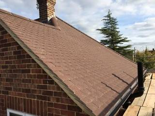 cleaned roof of the house