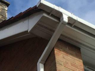 gutter pipe installed