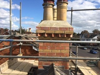 rebuilded chimney