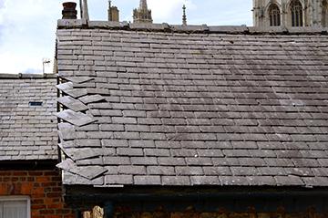 roof repair front